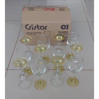 Cristar – Set x 12 copas Crital de vidrio