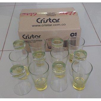 Cristar – Set x 12 vasos cristar de vidrio