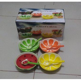 Duprée – Set Bowls x 4 frutal de 340ml aprox.
