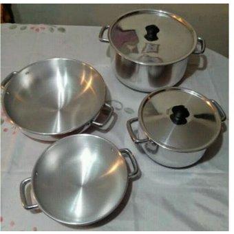 Umco – Set de Ollas 6 piezas de aluminio virgen