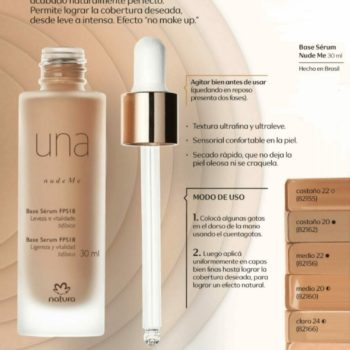 Natura – Una Base Serum FPS 18 30ml